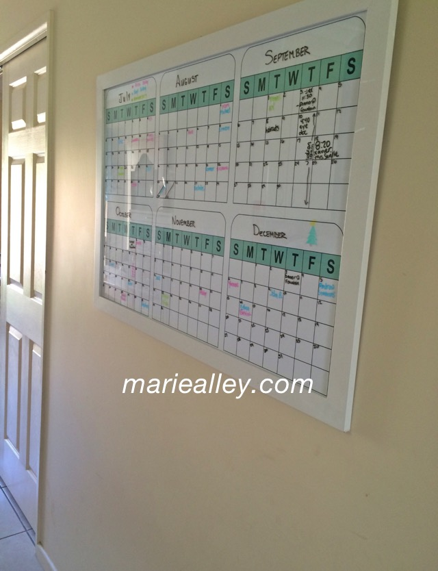 Large 6 Month Calendar Template Marie Alley